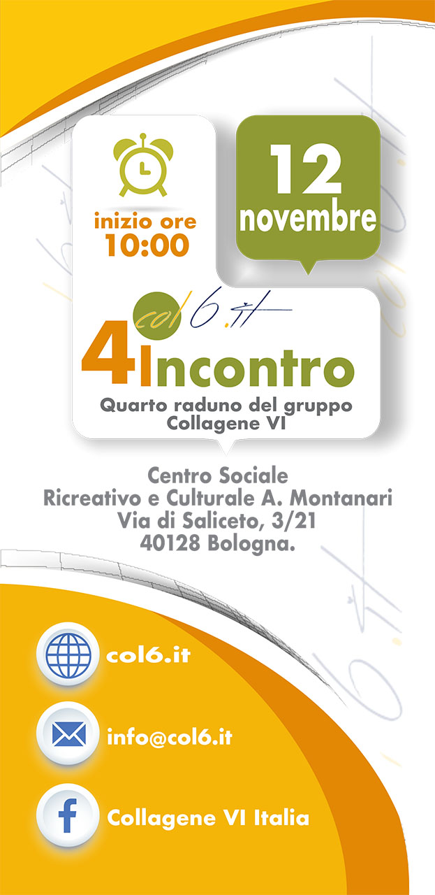 front Fourth meeting of italian Collagen VI Group